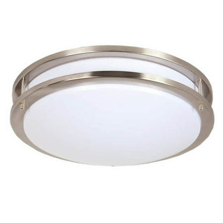 Maxxima 14 satin nickel led ceiling mount light fixture warm maxxima 14 satin nickel led ceiling mount light fixture warm white 1650 lumens aloadofball Image collections