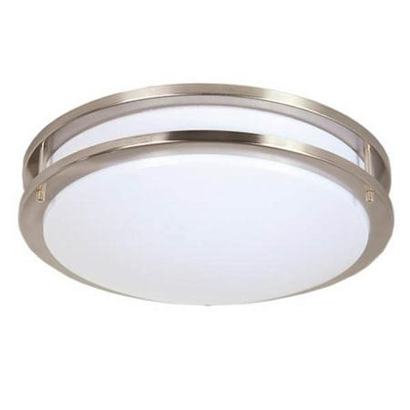 Maxxima 14 satin nickel led ceiling mount light fixture warm maxxima 14 satin nickel led ceiling mount light fixture warm white 1650 lumens aloadofball Choice Image