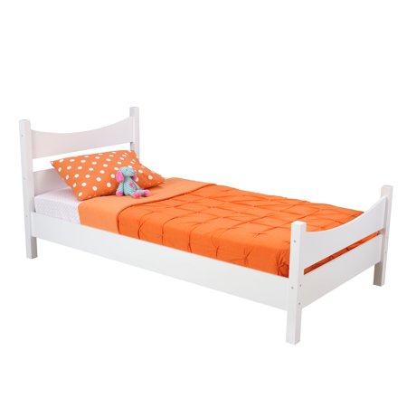 Kidkraft addison twin size bed white for Beds 3 4 size
