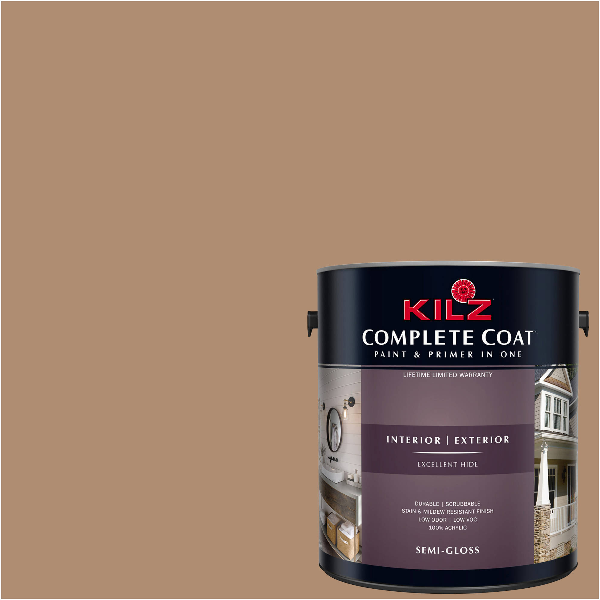 KILZ COMPLETE COAT Interior/Exterior Paint & Primer in One #LC250-02 Caramelized