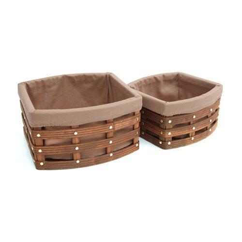 Organize It All 23801W-1 Havana Curved Basket - Set of 2