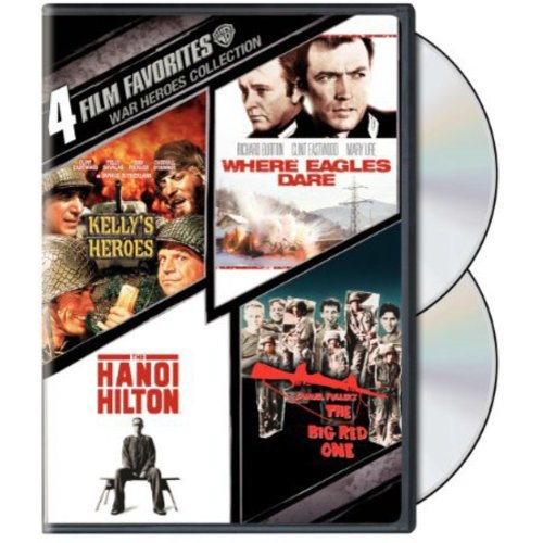 4 Film Favorites: War Heroes - Kelly's Heroes / Where Eagles Dare / The Big Red One / The Hanoi Hilton (Widescreen)