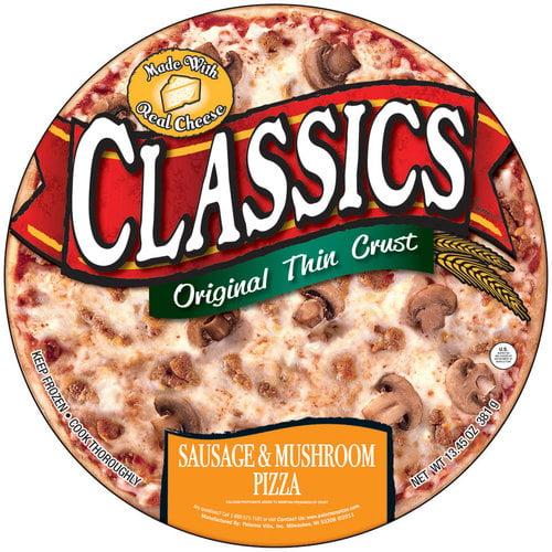 Palermo's Classics Original Thin Crust Sausage & Mushroom Pizza, 13.45 oz
