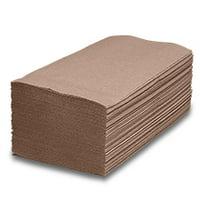 """Brown Single Fold Towel   Width: 9"""" by Paper Mart"""