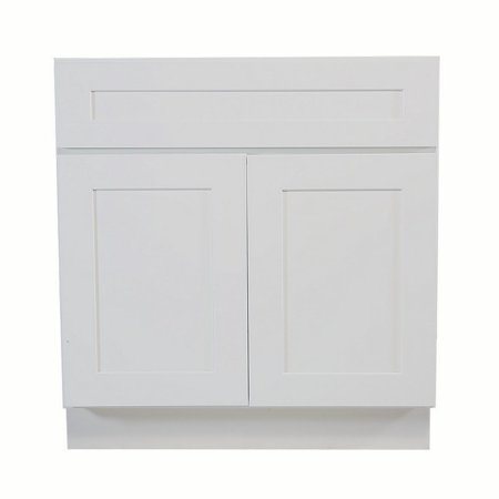 Design House 561480 Brookings Unassembled Shaker Sink Base Kitchen Cabinet 33x34.5x24, White