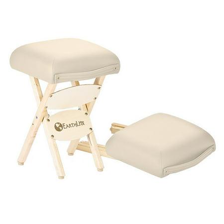 - EARTHLITE Massage Therapist Stool - Folding Massage Stool, Hardwood Maple, CFC-Free