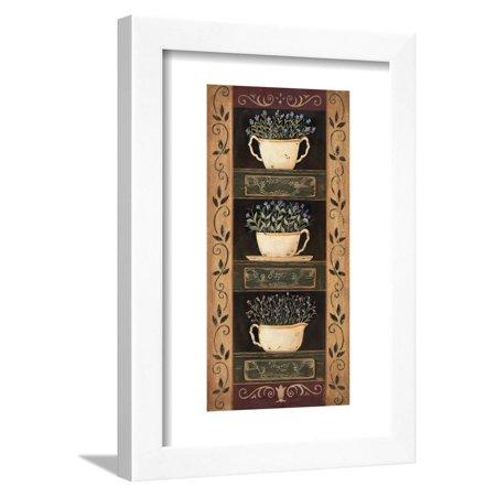 Teacup Herbs I Framed Print Wall Art By Jo Moulton