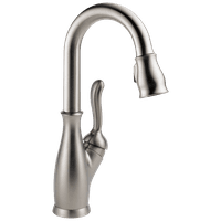 Leland Single Handle Pull-Down Bar / Prep Faucet in Spotshield Stainless 9678-SP-DST