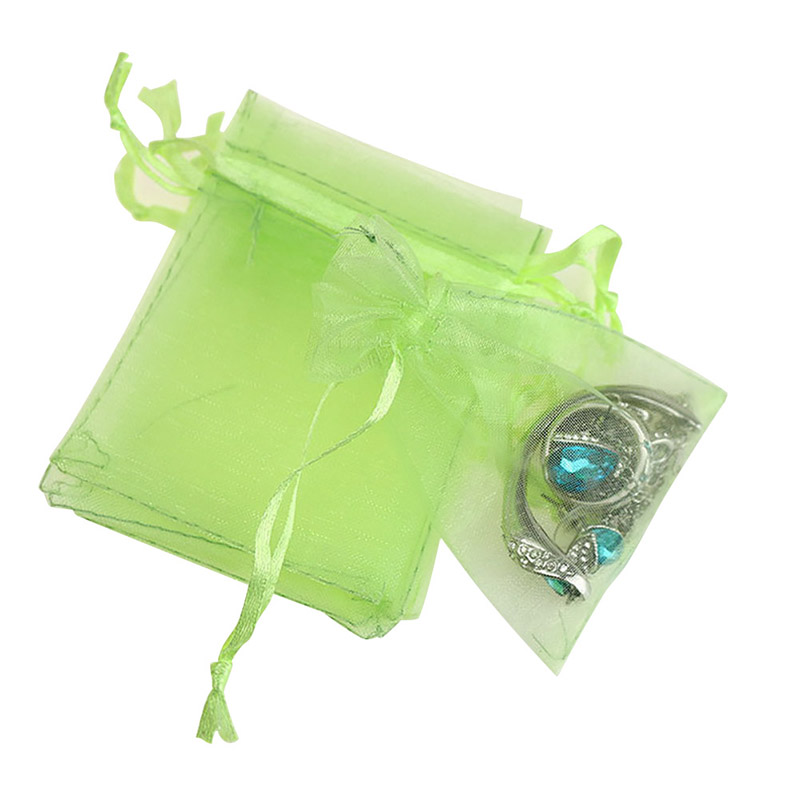 SunshineLLC 100Pcs Organza Mini Gift Bags Jewelry Candy Pouch Wedding Party Favor