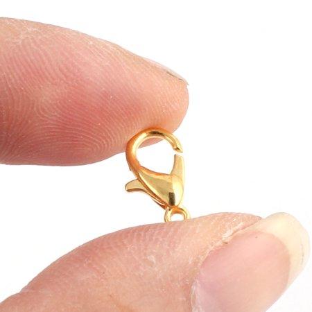 Jewelry DIY Metal Bracelet Necklace Lobster Clasp Hooks Gold Tone 12 x 6mm 20pcs - image 2 de 3