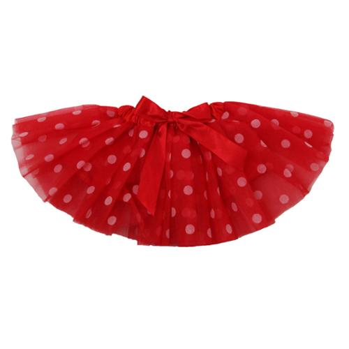 Dress Up Dreams Boutique Baby Girls Red White Polka Dots Satin Elastic Waist Ballet Tutu Skirt 0 - 12M