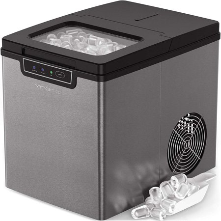 Vremi Countertop Ice Maker - Ice Cubes Ready in 9 Min - 26lb. Daily Capacity, Stainless (Best Whirlpool Ice Cube Makers)
