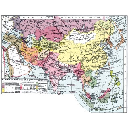 Map Of Asia 1914.Map Europe In Asia Nmap Of Asia English C1935 Emphasizing The