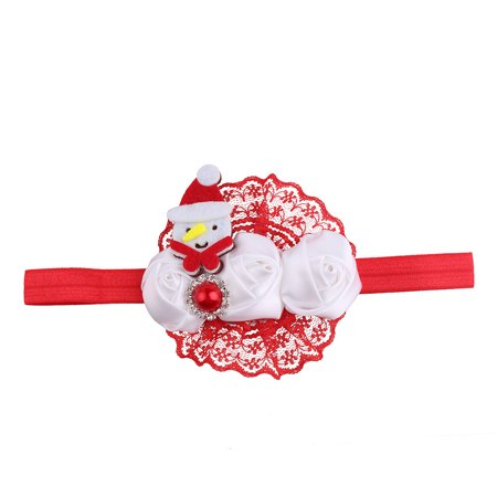 Huppin's Hot Sale Christmas Decoration Headwear Girls Infant Cute Cartoon Snowman Hair Band Headband Headdress Accessories Novelty Gadget - Christmas Head Wear