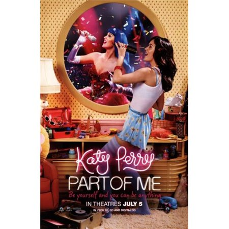 Pop Culture Graphics MOVCB25205 Katy Perry Part of Me 3D Movie Poster, 11 x - Halloween 3d Movie Poster