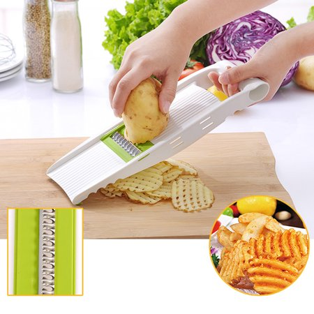 Jeobest Kitchen Vegetable Cutter - Adjustable Mandoline Slicer Vegetable Slicer Vegetable Grater Cutter with 5 Ultra Sharp Interchangeable Stainless Steel Blades and Hand Guard Kitchen Tool