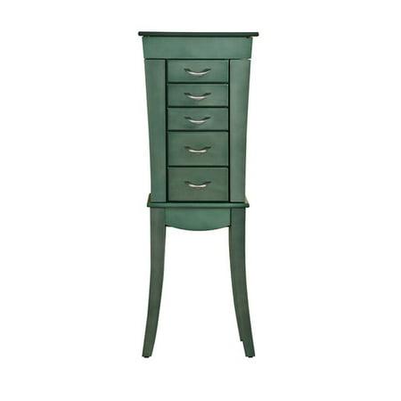 Best Desu Paris Sear Green Jewelry Armoire Cabinet