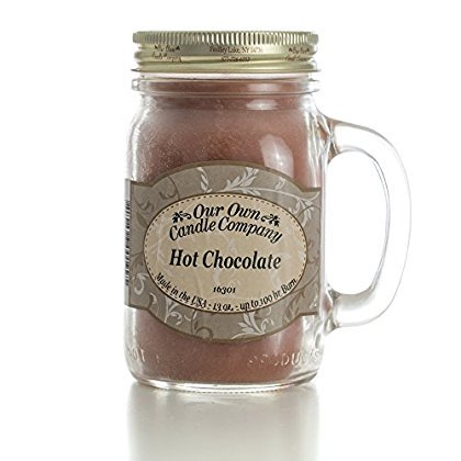 Chocolate Candle (Hot Chocolate Scented 13 Ounce Mason Jar Candle By Our Own Candle Company )