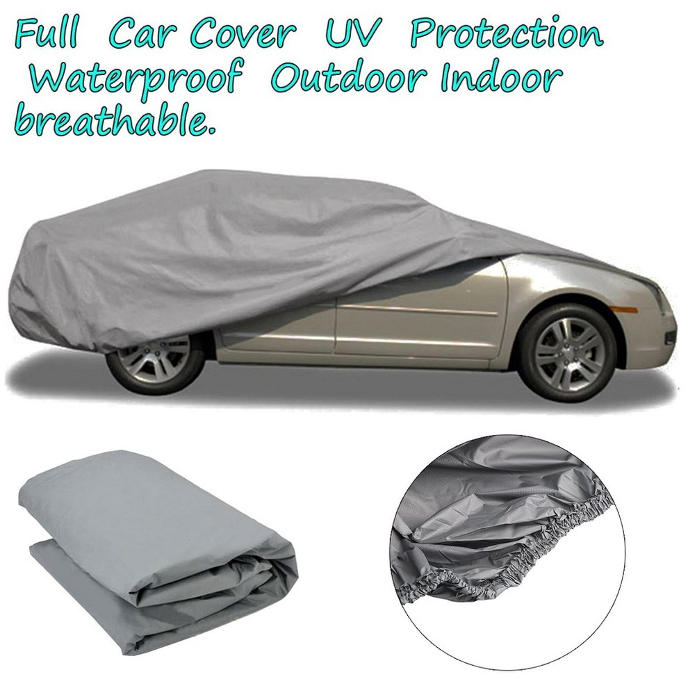 Waterproof Full Car Cover UV Breathable Outdoor Protect Rain Snow Ice Dust