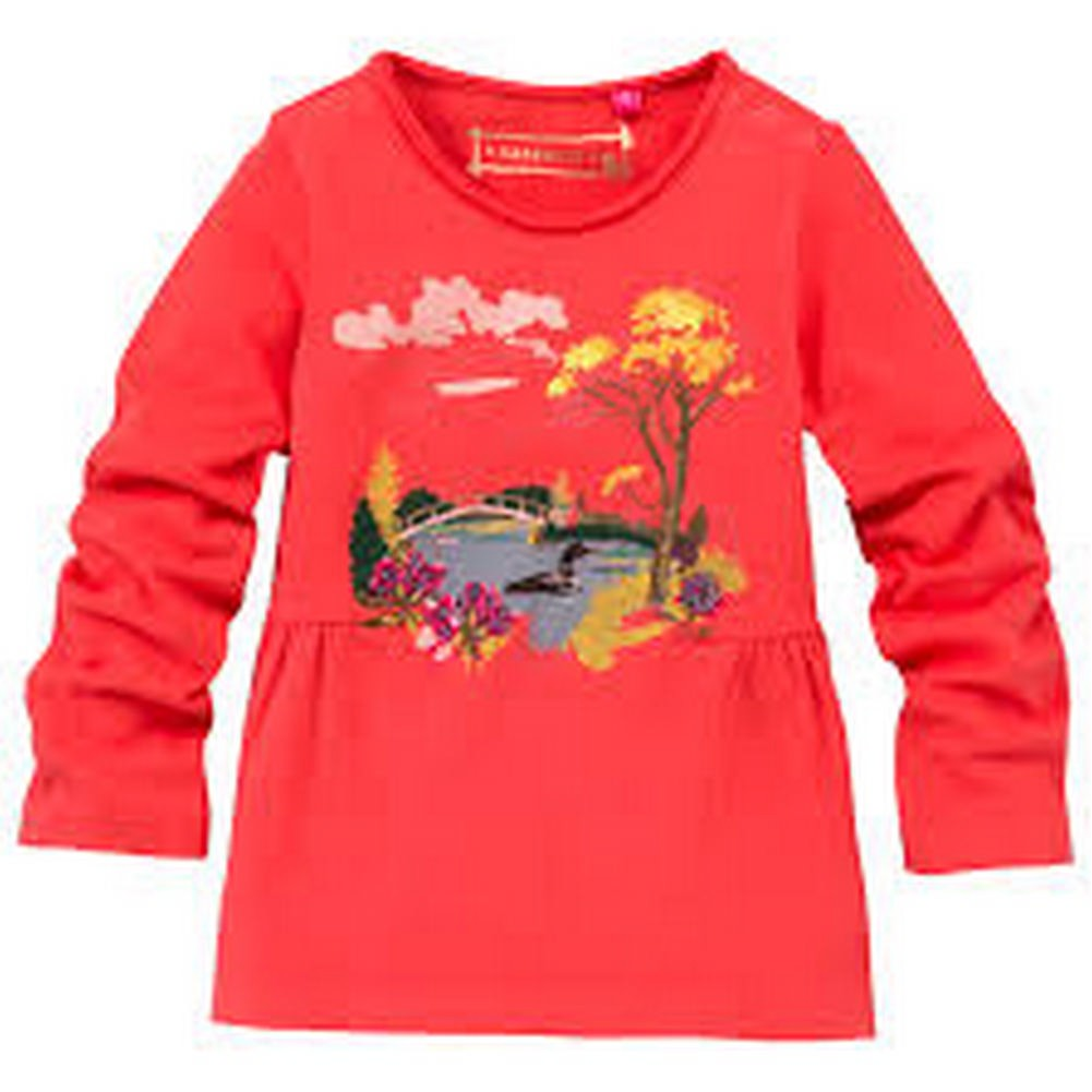 CakeWalk Girls Red Kinka Long Sleeve Tee 2-6Y
