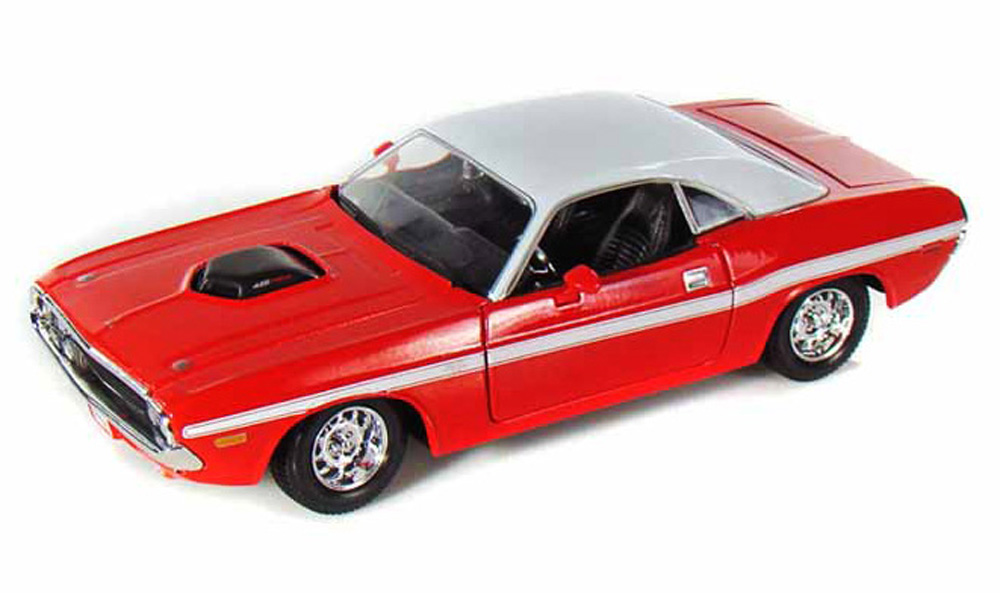 1970 Dodge Challenger R T, Red Maisto 31263 1 24 Scale Diecast Model Toy Car by Maisto