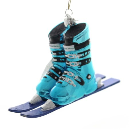 Noble Gems SKI BOOTS WITH SKIS Glass Winter Sport