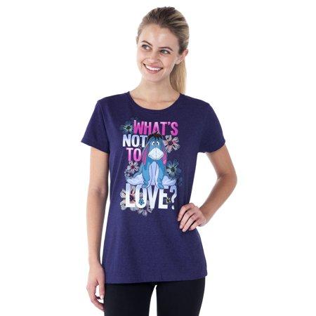 Women's Eeyore Fitted T-Shirt - Short Sleeve Purple