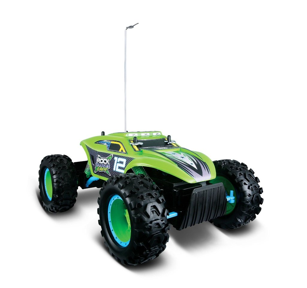 Maisto Tech 4x4 Radio Remote Control Rock Crawler Extreme  4WD Off Road RC Truck Ready to Run (Green)