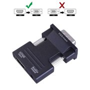 1080P HDMI Female to VGA Male with Audio Output Cable Converter Adapter Lead USB Power Black