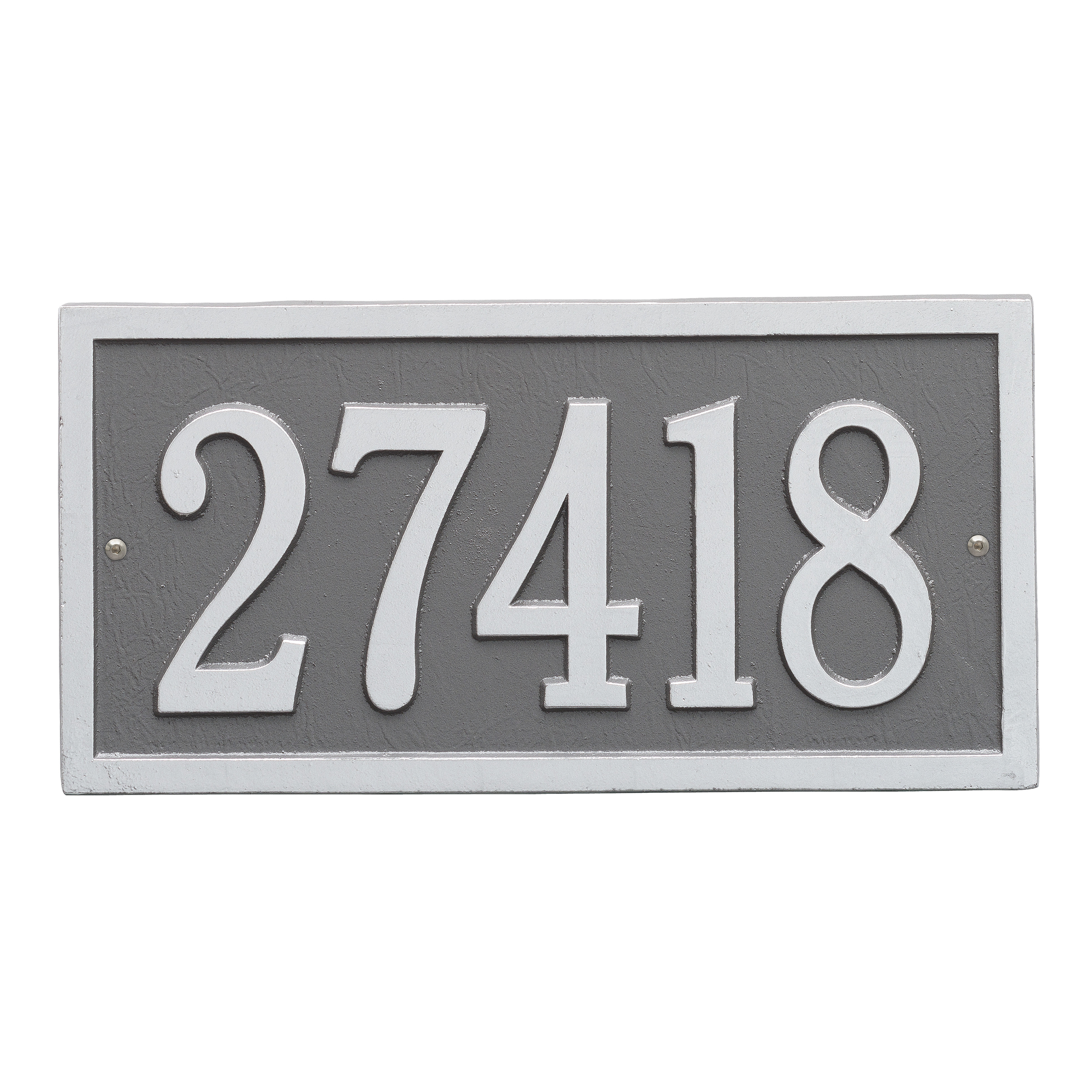 Personalized Bismark 1-Line Standard Wall Plaque in Pewter/Silver