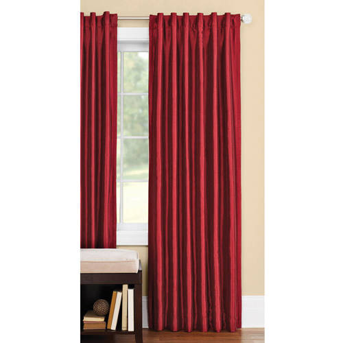 Better Homes and Gardens Thermal Faux-Silk Back-Tab Window Curtain Panel