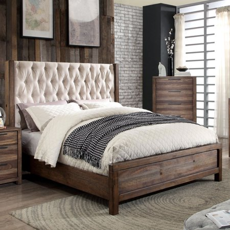 Furniture of America Oakes Transitional Panel Bed Oak Bed Furniture