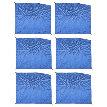 Clam Bells - Clam Quick-Set Screen Hub Blue Fabric Wind & Sun Panels, Accessory Only (6 Pack)