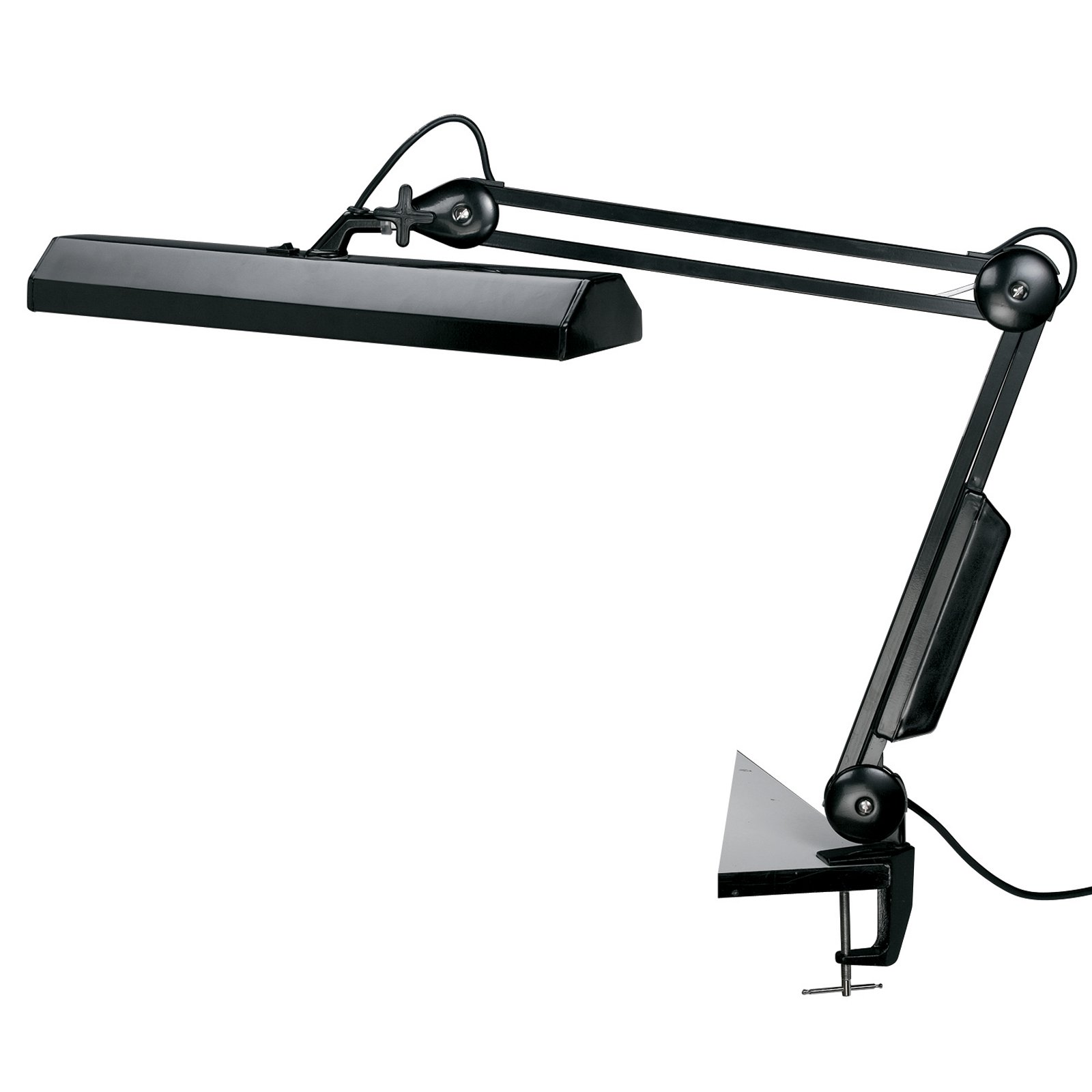 Alvin Fluorescent Task Light Black