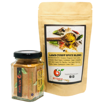 LAMB CURRY SPICE BLEND -Glass Jar: 3.35 oz (Best Ever Lamb Curry)