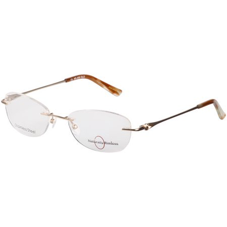 Rimless Gold Eyeglass Frames : Womens Naturally Rimless Stainless Steel Eyeglass Frames ...