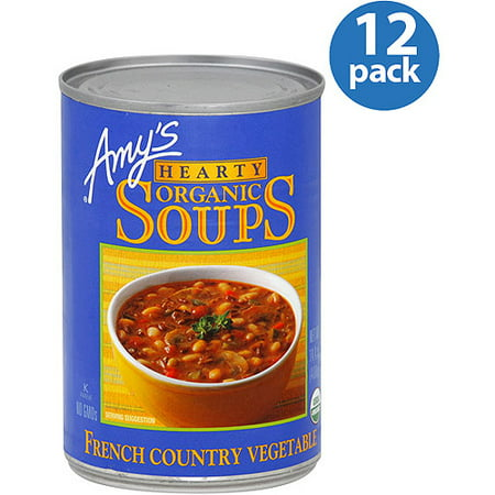 Amy's French Country Vegetable Hearty Organic Soup, 14 oz, (Pack of