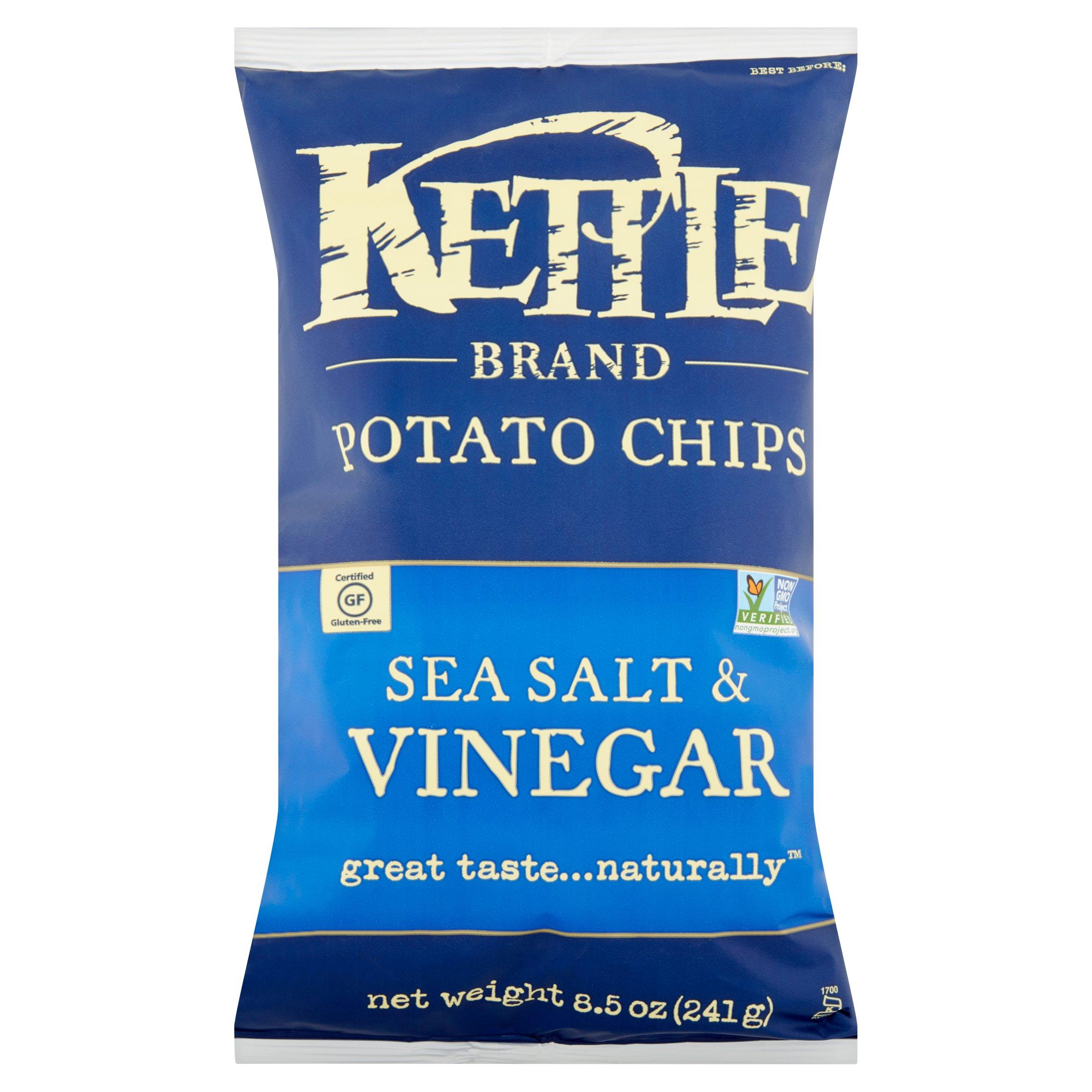 Kettle Brand Chips Sea Salt & Vinegar Potato Chips, 9 oz by Kettle Foods, Inc.