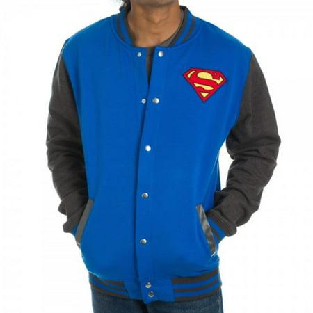 Superman Men's Blue Letterman Jacket, Small - Letterman Jacket Customize