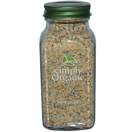 Simply Organic  Lemon Pepper  3 17 Oz Pack Of 1