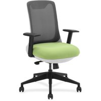 Lorell, Mesh Back Multifunction Chair, 1 Each, Gray,Green