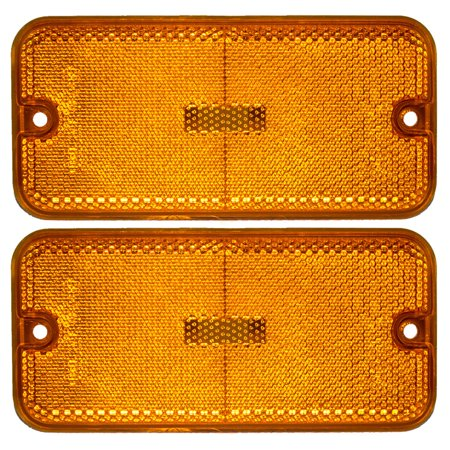 Pair of Front Signal Side Marker Light Lamp Replacement for Chevrolet GMC Van 915489 GM2550113 Chevrolet Front Marker Light