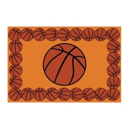 Fun Rugs BASKETBALL TIME Kids Rugs