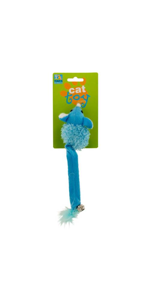 Cat Toy Mouse with Bell and Feathers Set of 24 by Kole Imports