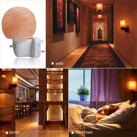 Rotatable 15W Round Himalayan Salt Night Light Natural Crystal Himalayan Salt Lamp Night Light Home/Porch/Bedroom Decor  EU Plug