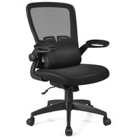 Deals on Costway Ergonomic Desk Chair with Flip up Armrest