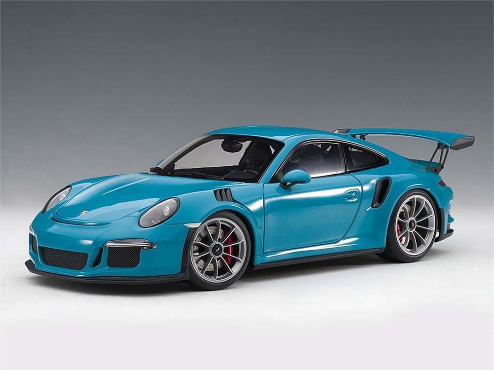 Porsche 911 991 Gt3 Rs In Miami Blue Composite Die Cast Model In 1 18 Scale By Autoart Walmart Com Walmart Com