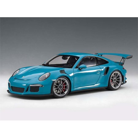 Porsche 911 (991) GT3 RS in Miami Blue Composite Die-cast Model in 1:18 Scale by
