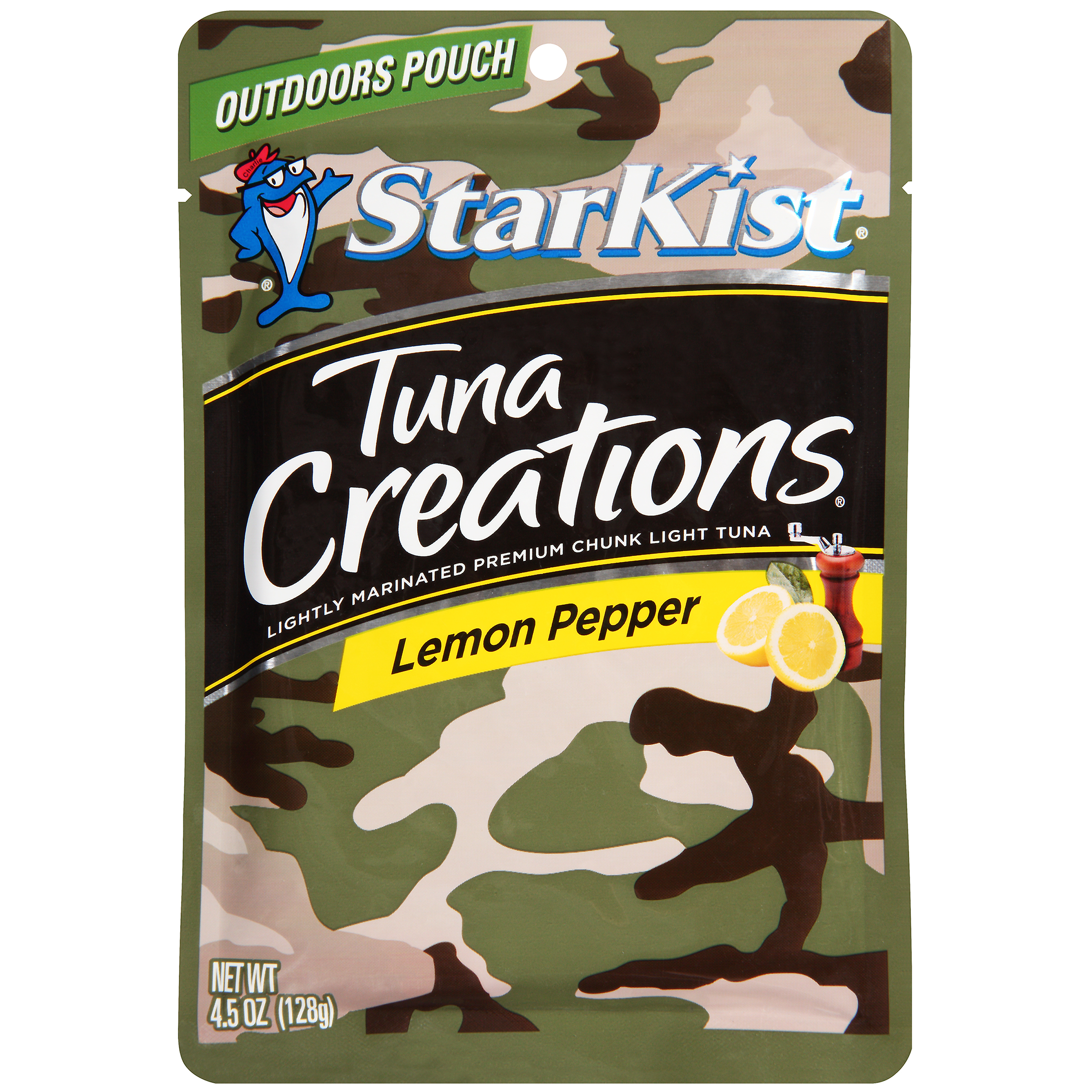StarKist Tuna Creations, Lemon Pepper, 4.5 Ounce Camo Pouch