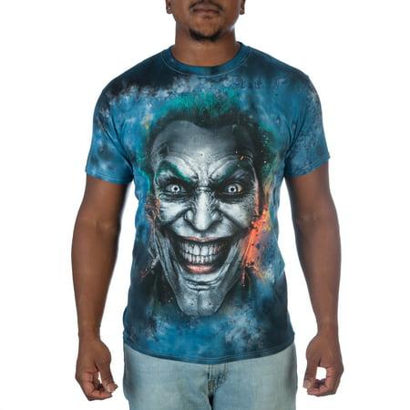 DC Comics Men's Joker Injustice Tie Dye Graphic Tee - Joker Tie